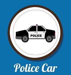 police car design vector image vector image