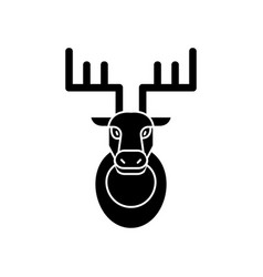 deer head icon sign o vector image