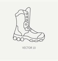 line flat hunt and camping icon - ankle vector image vector image