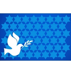 peace pigeon on blue background vector image