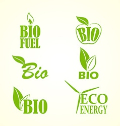 Set of bio and eco labels vector image