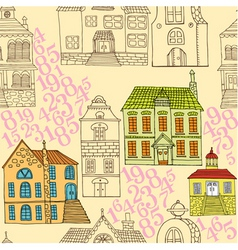 town pattern vector image vector image