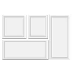 White photo frames vector image