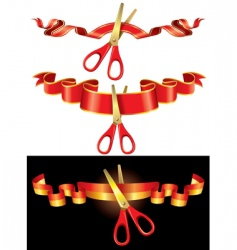 ceremonial scissors vector image