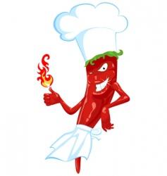 chili chef vector image