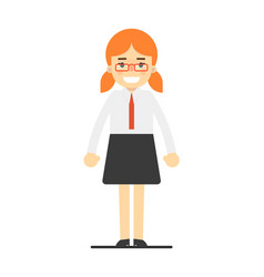 happy redhead office secretary girl vector image vector image