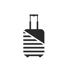 logo of luggage wrapped by protective coating vector image