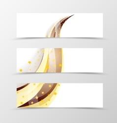 Set of banner swoosh design vector image vector image