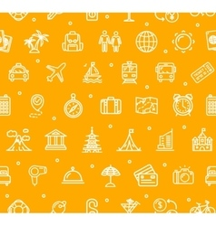 Travel and Tourism Background Pattern vector image vector image