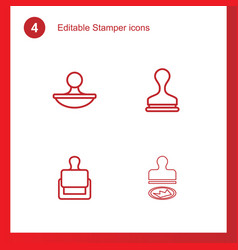 4 stamper icons vector