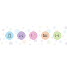 5 vip icons vector