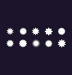 A set different geometric shapes in modern vector