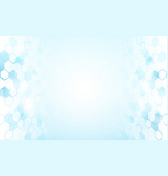 abstract blue and white hexagons background vector image