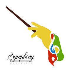 abstract conductor hand icon vector image