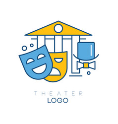 Abstract logo design with columns hat-cylinder vector