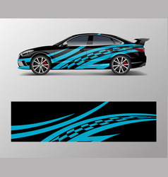 Abstract stripe for racing car wrap sticker vector