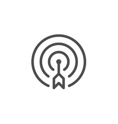 Aim line icon vector