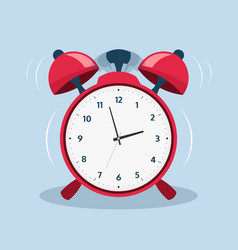 alarm clock cartoon old ringing clock for morning vector image