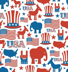 American seamless pattern USA Election Symbols vector image