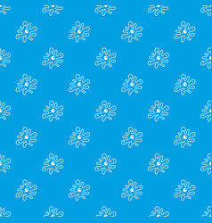 Amoeba pattern seamless blue vector