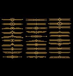art deco elements dividers or headers set vector image