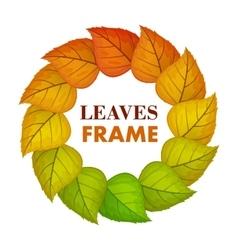 Autumn Leaves Frame in Flat Design vector image