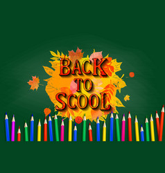 back to school board pencil design vector image