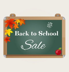 back to school sale background with blackboard vector image