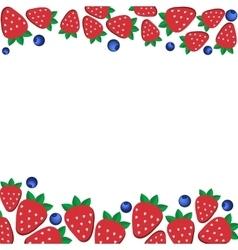 background fresh strawberries and blueberriesof vector image