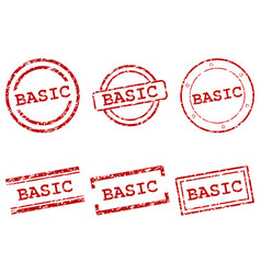 Basic stamps vector