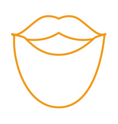 Beard and mustache line style icon vector