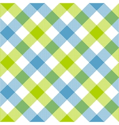 Blue green diagonal checkered plaid seamless vector