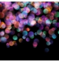 Bokeh blurred lights on dark background EPS 10 vector