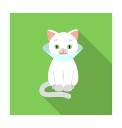 Cat sick icon of for web and vector image