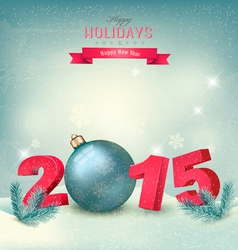 Christmas background with a 2015 vector image
