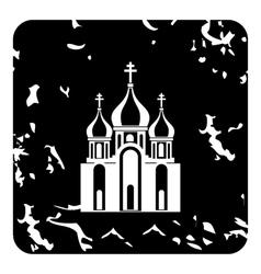 Church icon grunge style vector