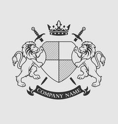 coat arms crest design vector image
