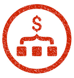 Collect money rounded grainy icon vector