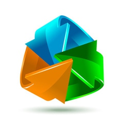 Colorful bright arrows icon for your design vector image