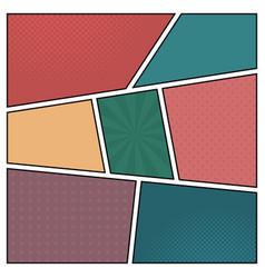 colorful template retro comic book page vector image