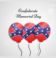 Confederate memorial day vector