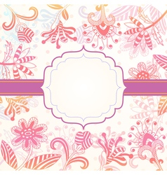Decorative background with flowers vector