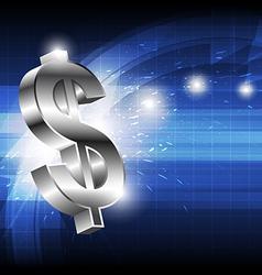 dollar money icon vector image vector image