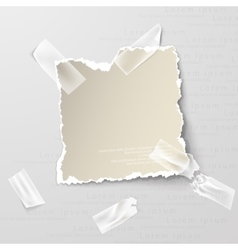 Elements torn paper with transparent sellotape vector