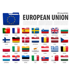 european union flag eu and membership on vector image