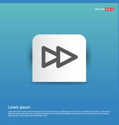 Fast forward icon - blue sticker button vector