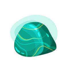 flat icon of shiny precious stone glossy vector image