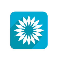 Flower colored flat icon on a white background vector