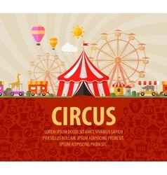 funfair circus performance vector image