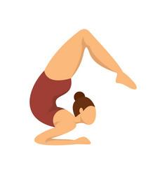 Girl gymnastics icon flat style vector